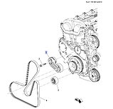 Ролик натяжной ремня генератора Каптива 2.4i С100/140, 12605175, фото 3