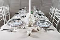 Набор посуды стеклопластик Capital For People белый с серебром 96 предметов DD-32, КОД: 165036