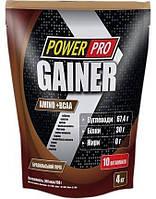 Гейнер Power Pro Gainer Бразильский орех 4000 г 8855, КОД: 984634