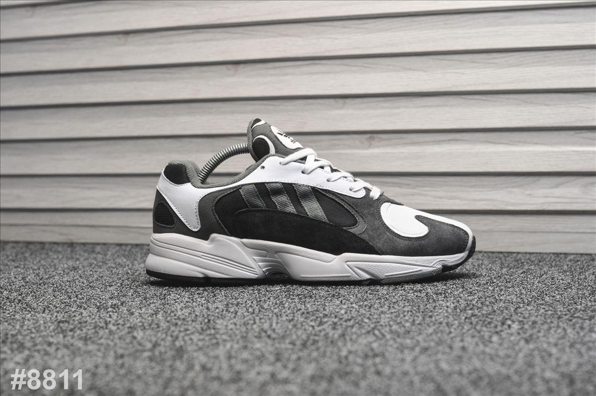 Мужские кроссовки Adidas Yung Gray White (Адидас Янг Серые)
