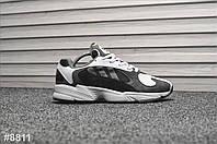 Мужские кроссовки Adidas Yung Gray White (Адидас Янг Серые), фото 1