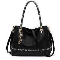 Стильная кожаная сумка . Большая кожаная сумка. , фото 1