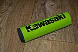 Подушка на распорку руля кроссового мотоцикла Kawasaki (черные буквы) 20х5см, фото 7