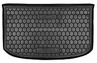 Резиновый коврик багажника Kia Soul II (PS) 2014- (верхняя полка)(с органайзером) Avto-Gumm