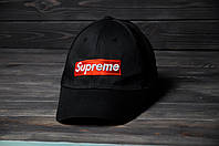 Кепка черная с логотипом SUPREME (реплика)