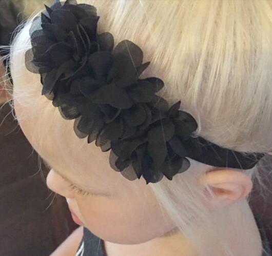 Детская черная повязка на голову
