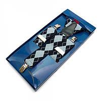 Подтяжки Gofin suspenders Y Образные Сине-Голубые Pu-0458, КОД: 389959