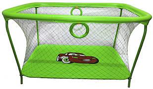 Манеж игровой KinderBox с крупной сеткой Салатовый (km 55)