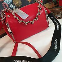 Женская кожаная красная сумка polina & eiterou