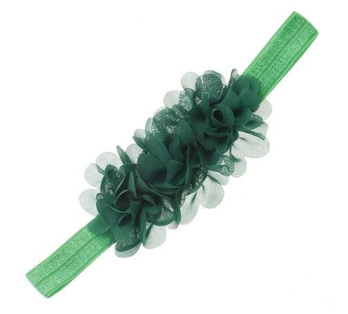 Детская зеленая повязка на голову