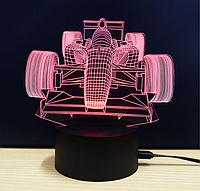 Ночник 3D Kronos Top Болид Формулы 1 stet1274 L096, КОД: 943741