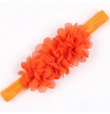 Детская оранжевая повязка на голову