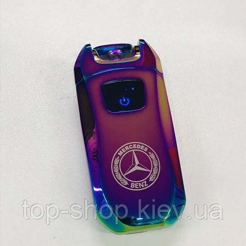 Электроимпульсная зажигалка мерседес USB Mercedes-Benz хамелеон