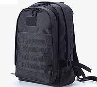 Рыболовный Тактический походный супер-крепкий рюкзак с органайзером 40 литров чёрный.
