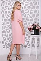 Красивое женское платье с шифоновой накидкой батал с 48 по 58 размер, фото 3