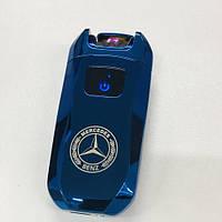 Электроимпульсная USB зажигалка Мерседес Mercedes-Benz, фото 1