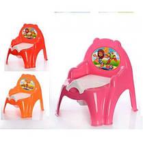 Горшок детский кресла (10 в / к) Технок оранж / роз / красн