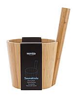 Шайка для сауны 5 л Rento бамбук 206756