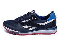 Мужские летние кроссовки сетка Reebok Blue (реплика), фото 1