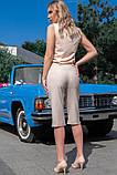 Стильные Льняные женские бриджи 42-60р, фото 5