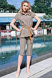 Стильные Льняные женские бриджи 42-60р, фото 6