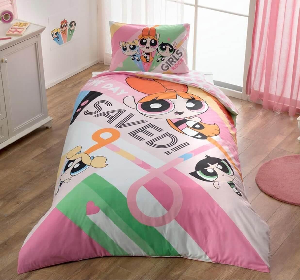 Детское/подростковое постельное белье TAC Power Puff Girls Ранфорс