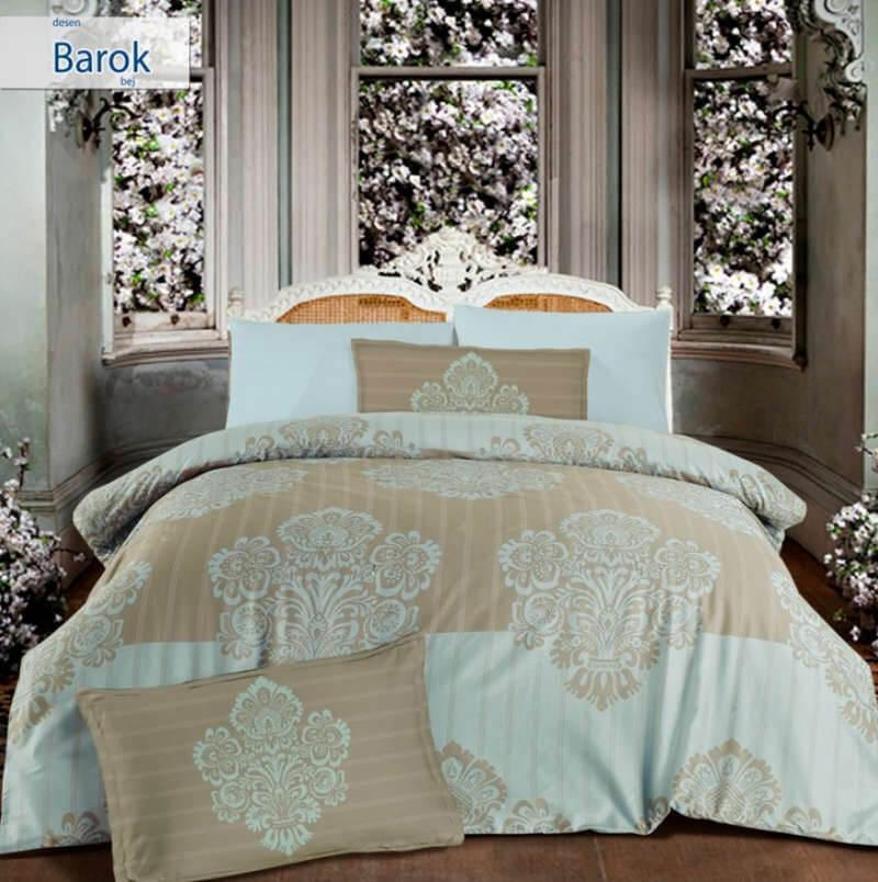 Двуспальное евро постельное белье Altinbasak Barok Сатин
