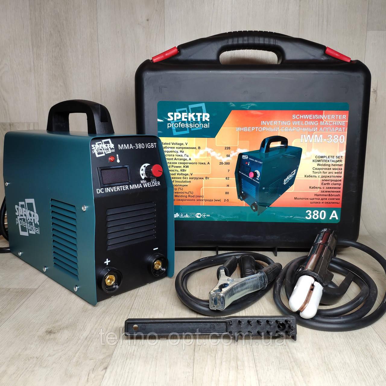 Сварочный инверторный аппарат Spektr IWM-380А в кейсе (сварка инверторная)