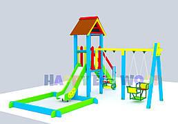 """Детская площадка, игровой комплекс """"Сиеста"""" (HappyEcoWood, Украина, GC001)"""