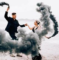 Черный дым для фотосессии, Цветной дым Maxsem, дымовая шашка, чорний дим (Средняя насыщенность)