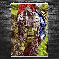 """Постер """"Халк"""" из фильма """"Тор 3: Рагнарок"""". Карандашный рисунок (репродукция). Размер 60x43см (A2). Глянцевая бумага"""