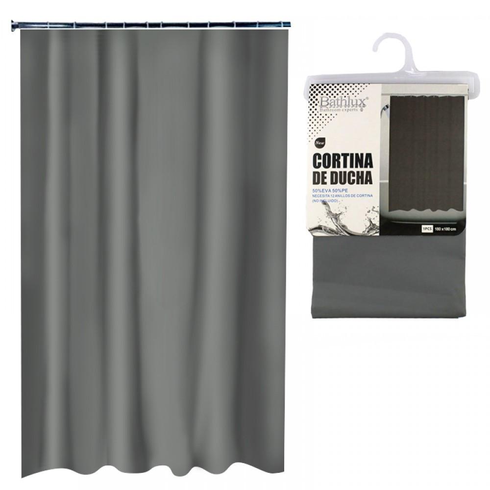 Шторы для ванной комнаты брезентовая цвет серый