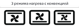 Электродуховка с конвекцией настольная 48 литров черная LIBERTON LEO-480 Black Mirror, фото 3