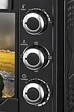 Электродуховка с конвекцией настольная 48 литров черная LIBERTON LEO-480 Black Mirror, фото 4