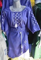 """Сукня вишита """"Безкінечність"""" фіолет"""