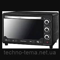 Электродуховка с конвекцией настольная 48 литров черная LIBERTON LEO-480 Black Mirror