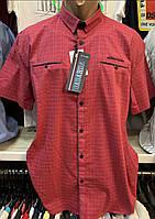 Яркие турецкие мужские красные рубашки с двумя карманами