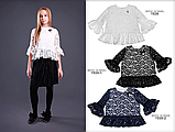 Черная  школьная блузка тм MONE р-ры 152, фото 2