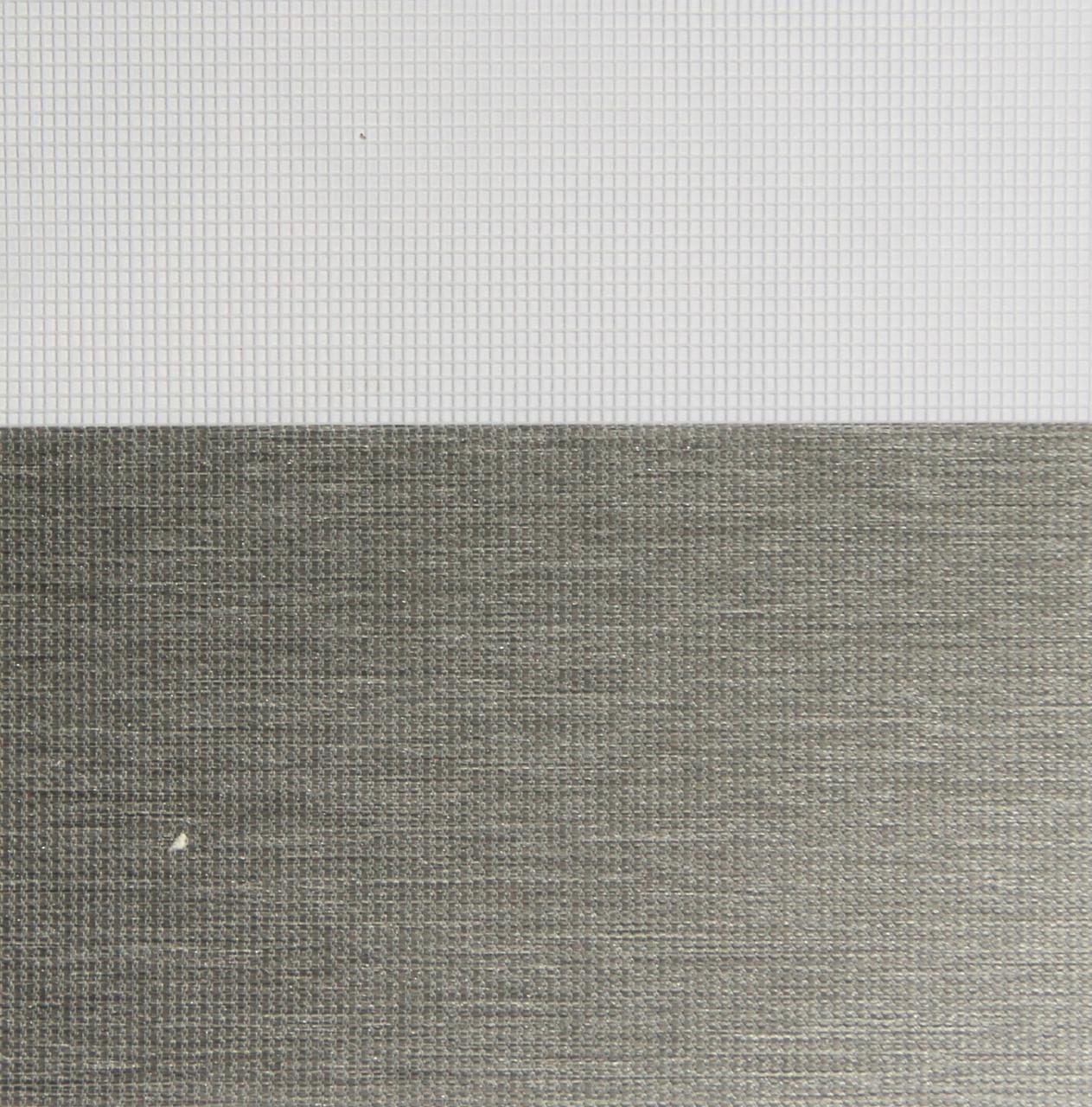 Рулонные шторы День-Ночь Ткань Каприз Z-106 Тёмно-серый