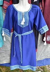 """Плаття жіноче """" Вишиванка"""" синє"""