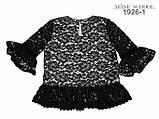 Черная  школьная блузка тм MONE р-ры 152, фото 3
