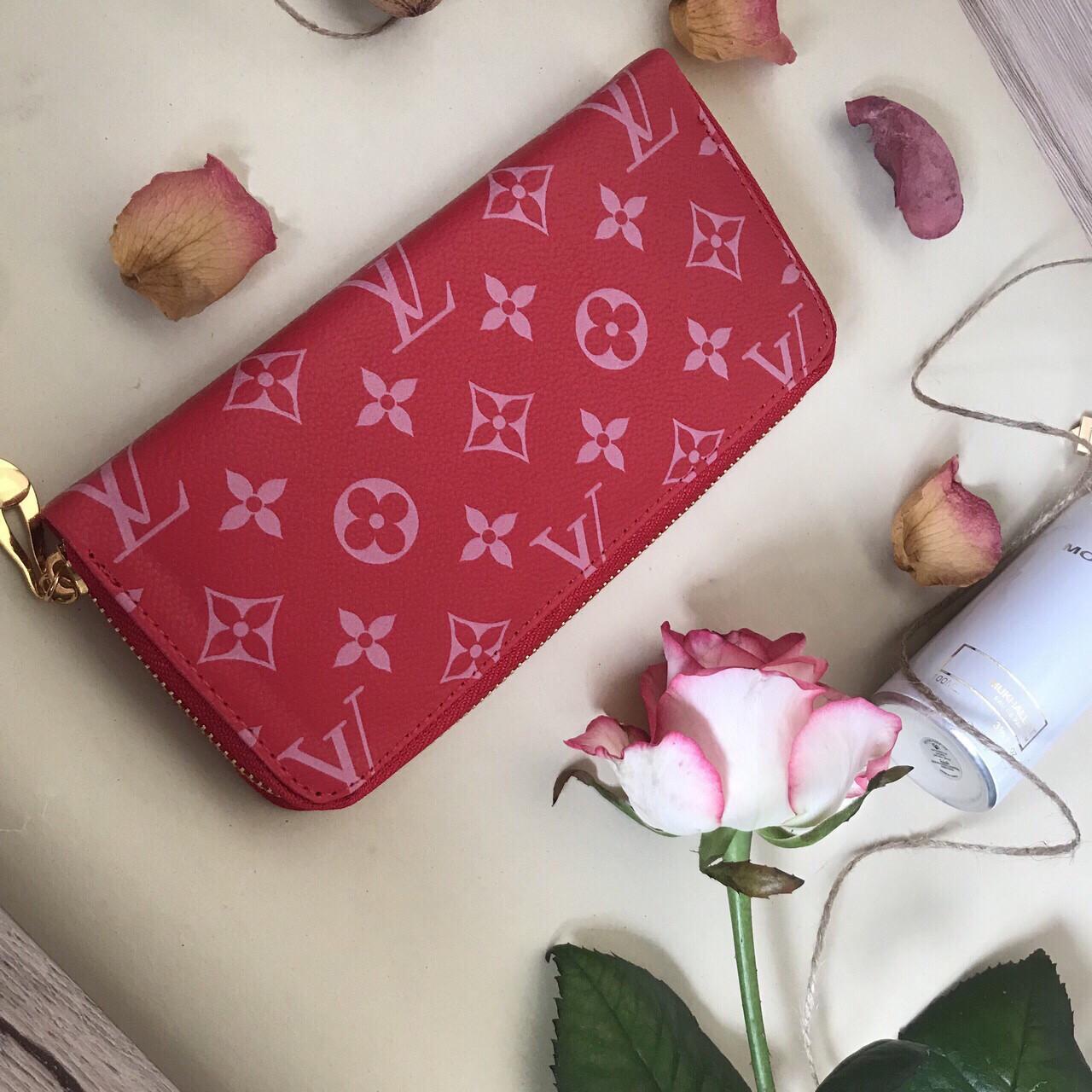 Кошелек портмоне Louis Vuitton реплика CLEMENCE red2