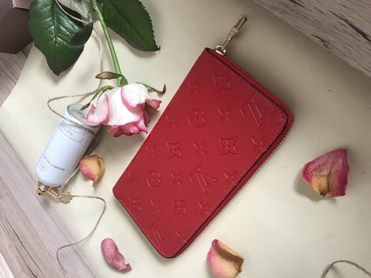 Кошелек  в стиле  Louis Vuitton CLEMENCE red