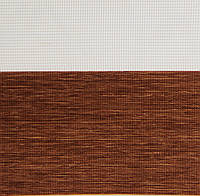 Рулонные шторы День-Ночь Ткань Каприз Z-109 Коричневый