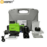 Лазерный уровень 4D (3D + одна плоскость) Xeast зелёные лучи с пультом XE-16YG