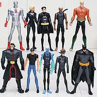 Набор Персонажи вселенной DC Супергерои 10 шт. Мешок в подарок Мстители Бетмен Аквамен Капитан Атом, фото 1