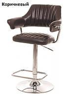 Барный стул B-90 блестящий коричневый искусственная кожа Vetro Mebel