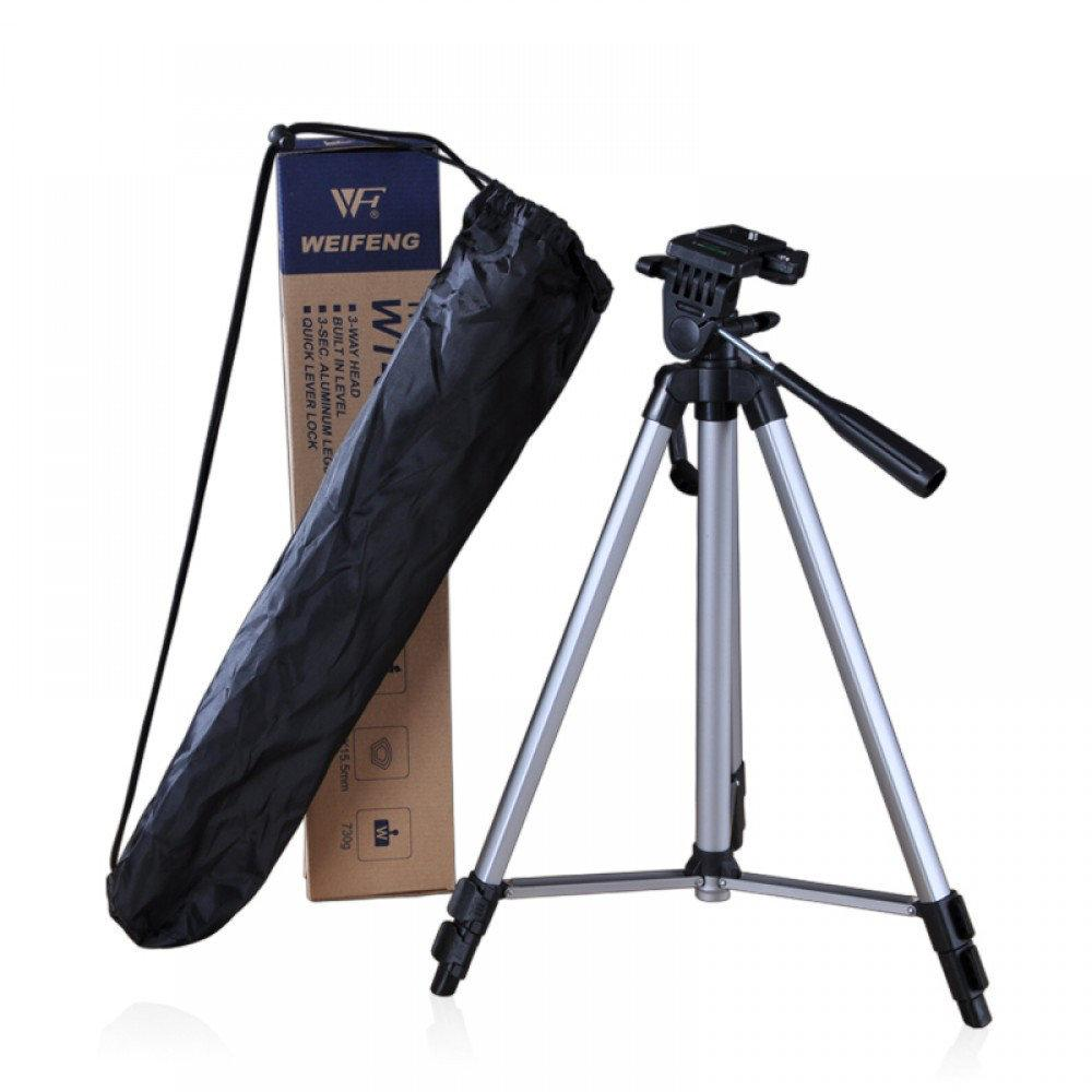 Штатив Tripod WT-330Ac чехлом, Тренога с чехлом на телескопических регулируемых ножках из алюминия