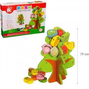 Деревянная игрушка Фрукты шнуровка, фото 2