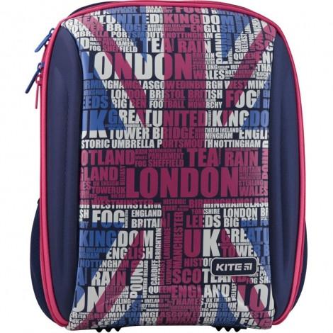 Фото ортопедический рюкзак для девочек с британским флагом